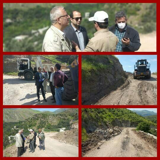 بازدید رئیس و اعضای شورای شهر رودبار از عملیات اجرایی مسیرگشایی دارستان