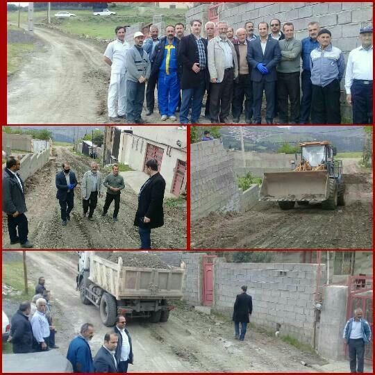 مخلوط ریزی وجدول گذاری  گلدیان توسط شهرداری و شورای اسلامی شهر رودبار در مرحله اجرایی قرارگرفت
