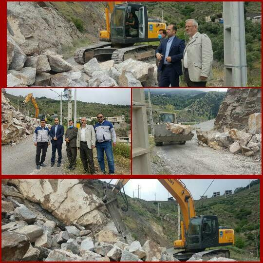 بازدید رئیس و اعضای شورای شهر رودبار از عملیات اجرایی مسیرگشایی و اصلاح معبر محدوده رانشی مسکن مهر