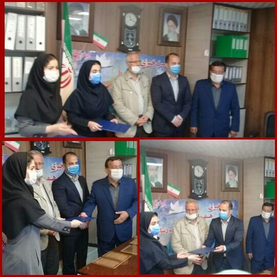 تجلیل از دو پرستار بیمارستان ولیعصر (عج)توسط شورای شهر رودبار