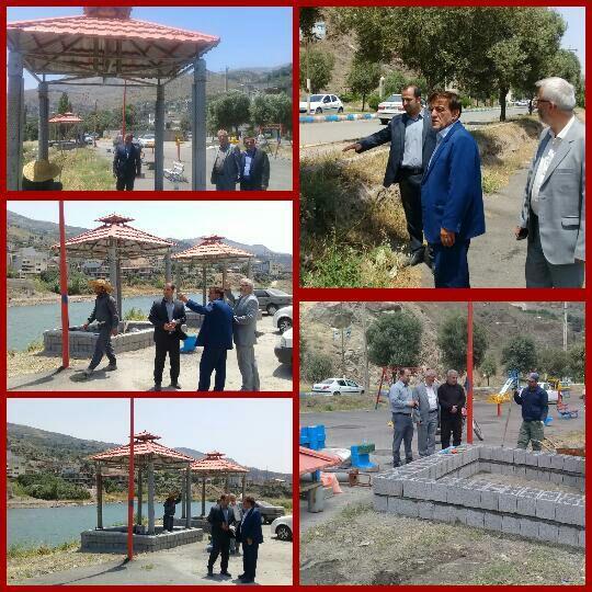 شروع عملیات تجهیز پارک وسط بازار شهر رودبار به همت شهرداری و شورای اسلامی