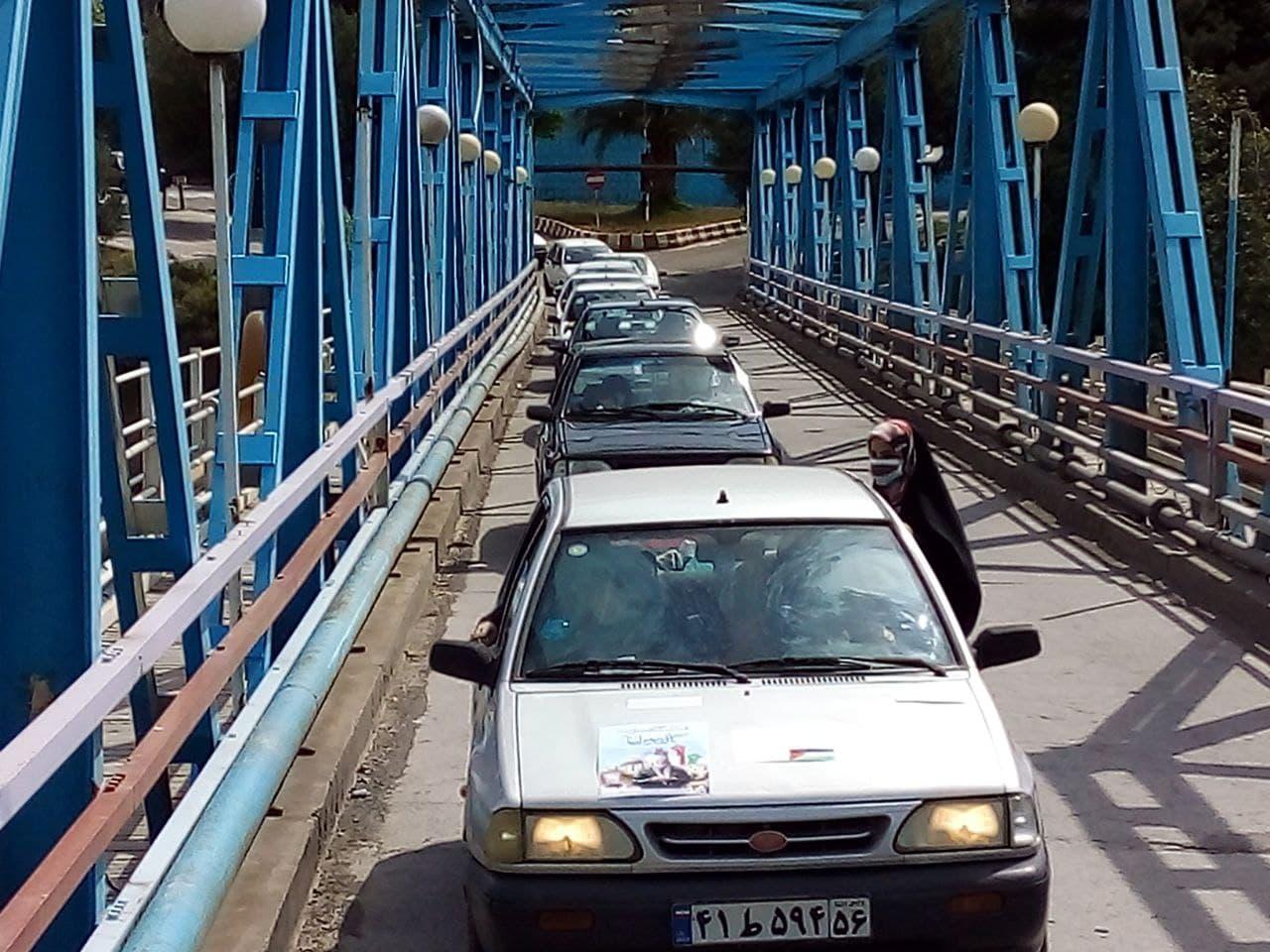 برگزاری رژه خودرویی در رودبار به مناسبت روز جهانی قدس